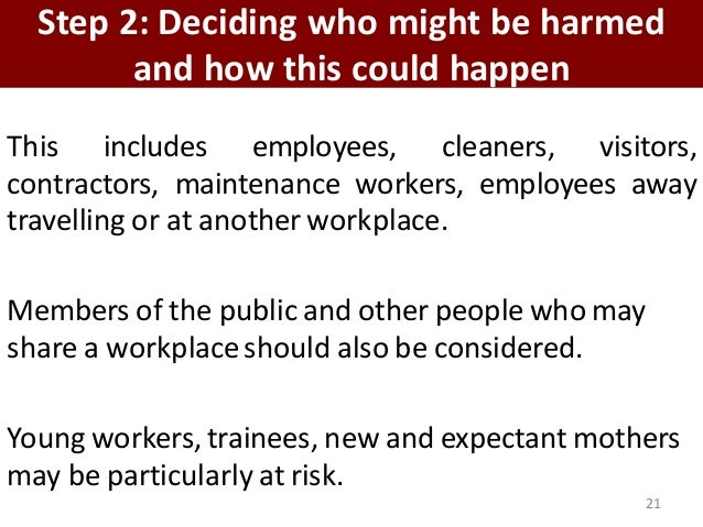 occupational safety and health and risk Health and safety in the food and beverage industry  risk assessment should consider which other work  occupational health is generally more difficult to manage.