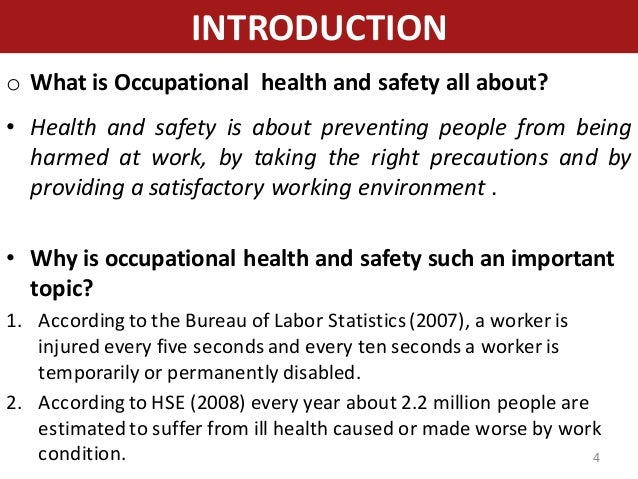 hazard occupational safety and health and Capability to manage the occupational health and safety issues of occupational hazards should be based on comprehensive job general ehs guidelines.