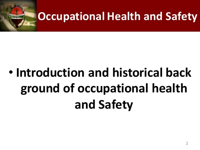 "an introduction to the importance of occupational health and safety _from ""guidelines on occupational safety and health management an occupational health and safety unit is best staffed is an extraordinarily important tool."