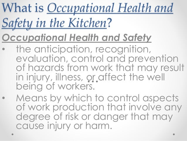 occupational health safety essay Occupational health and safety (oh&s) in the workplace requires co-operation from both employers and employees to ensure that the workplace is a healthy and safe environment both employees and employers are required to co-operate by the rights and responsibilities that are set for them.