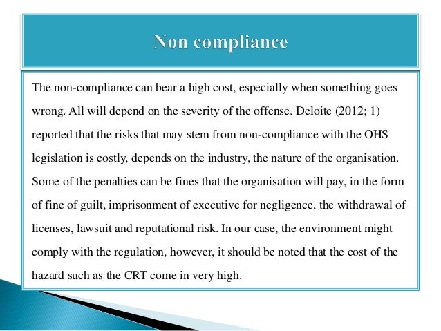 Use of case law in ohs legal compliance action plan management.