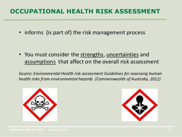 Occupational Health Risk Assessment