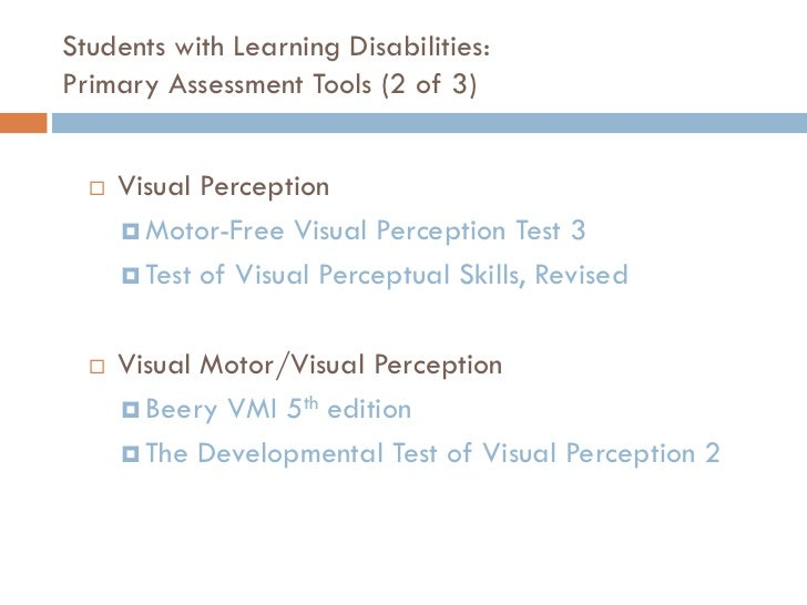 Occupational therapy in school settings for Motor free visual perception test