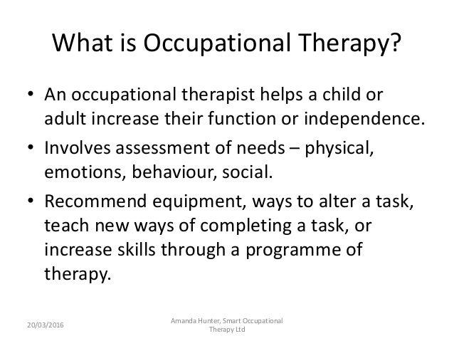 Occupational therapy role – Occupational Therapy Job Description