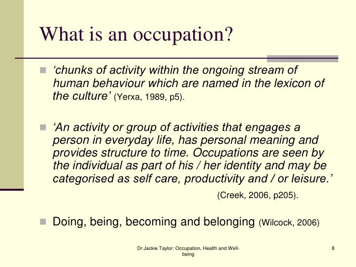 What is the occupation