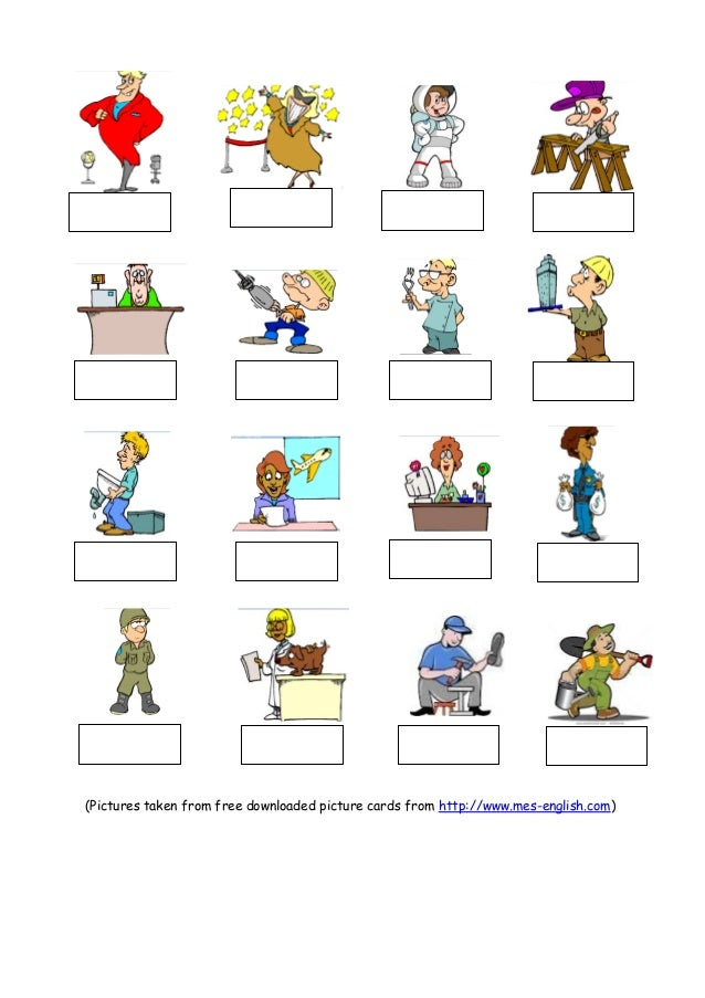 Occupations 2. (Pictures taken from free downloaded picture cards ...