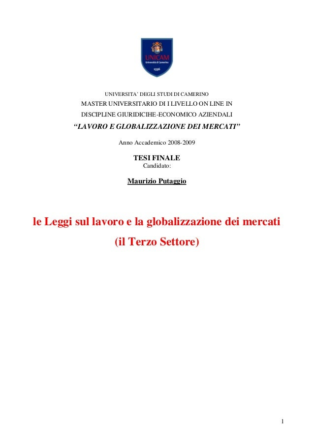 UNIVERSITA' DEGLI STUDI DI CAMERINO          MASTER UNIVERSITARIO DI I LIVELLO ON LINE IN          DISCIPLINE GIURIDICIHE-...