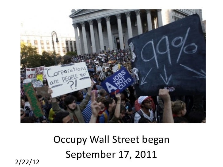 the occupy movement It started as a catchphrase and became a global movement on sept 17, 2011, hundreds of protesters marched through the streets of manhattan and began an encampment in zuccotti park defined.