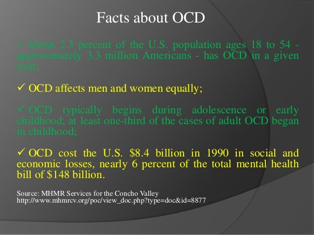 ocd project Ocd research projects the international ocd foundation the international ocd foundation (iocdf) is an international non-profit organization made up of people with obsessive compulsive disorder (ocd) and related disorders, as well as their families, friends, professionals and others.