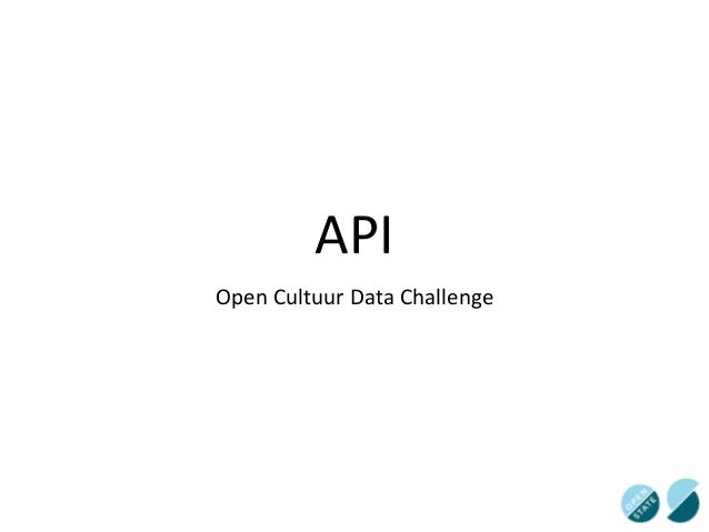 API Open  Cultuur  Data  Challenge