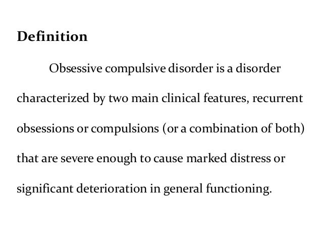 Obsession definition essay