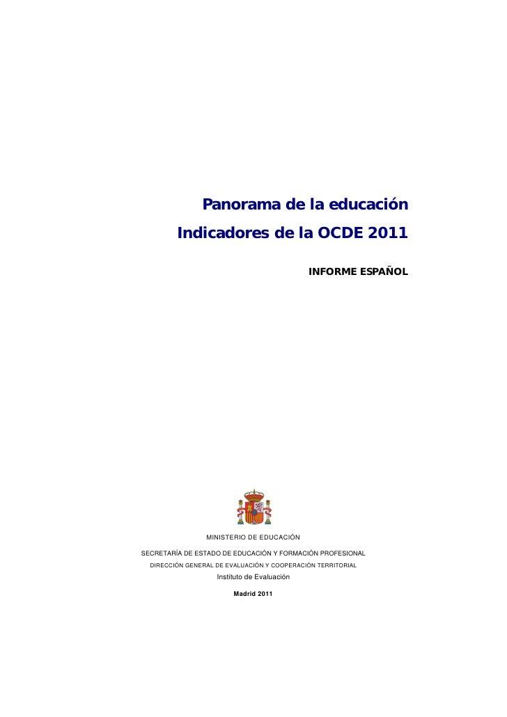 Panorama de la educación         Indicadores de la OCDE 2011                                              INFORME ESPAÑOL ...