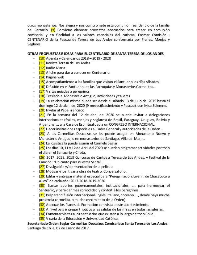 otrosmonasterios.Nosalegraynoscomprometeestacomuniónrealdentrodelafamilia del Carmelo. (9) Conviene elab...