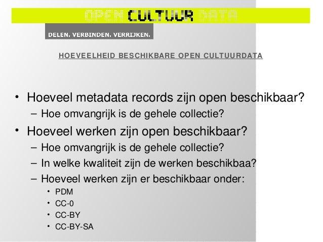 BEZOEKERS EN HERGEBRUIK• Hoeveel unieke bezoekers trekt de  institutionele website waar de open  cultuurdata beschikbaar i...