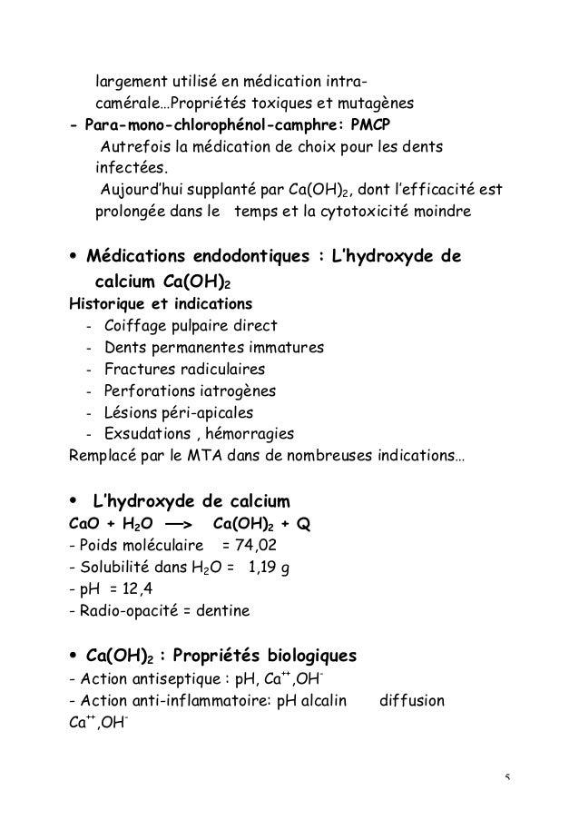 5 largement utilisé en médication intra- camérale…Propriétés toxiques et mutagènes - Para-mono-chlorophénol-camphre: PMCP ...