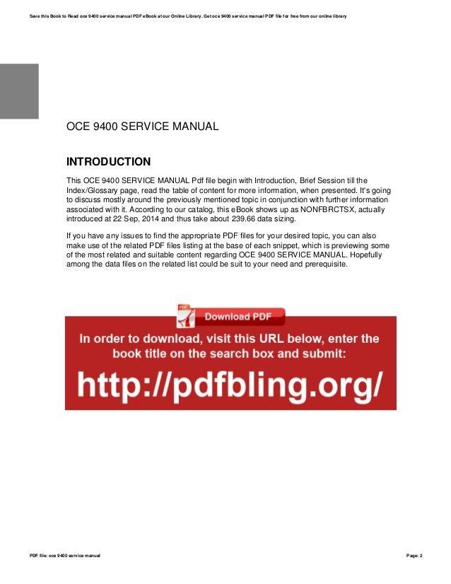 oce 9400 service manual rh slideshare net Oce 9400 Copier oce 9400 service manual pdf
