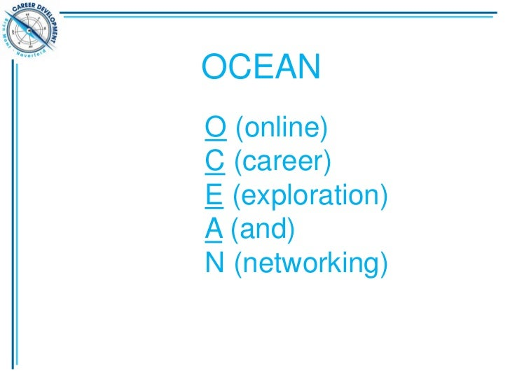 OCEANO (online)C (career)E (exploration)A (and)N (networking)