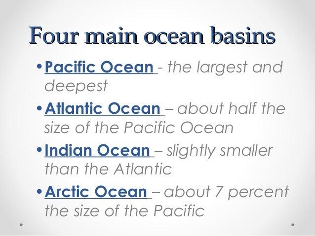 Ocean Topography - Earth's four oceans