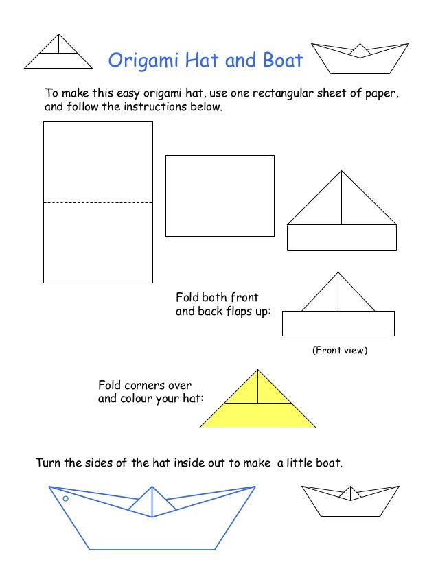 How to Fold an Origami Hat for Halloween | 851x638