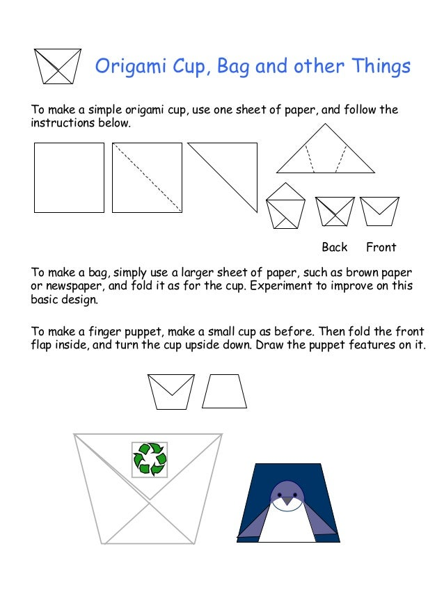 How to Make a Paper Cup - Origami Cup - Step by Step Instructions ... | 851x638