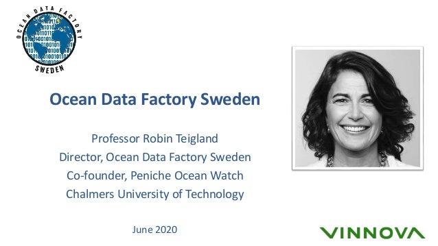 Ocean Data Factory Sweden Professor Robin Teigland Director, Ocean Data Factory Sweden Co-founder, Peniche Ocean Watch Cha...