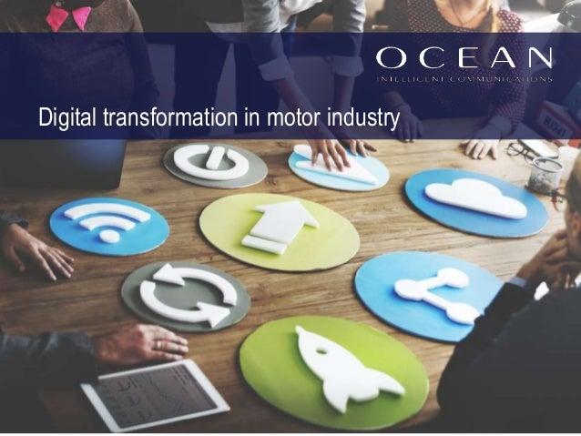 Digital transformation in motor industry