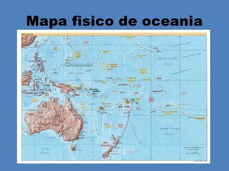 Mapa De Oceania Fisico En Español.Oceania