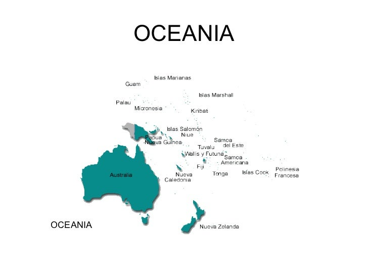 Resultado de imagen de oceania