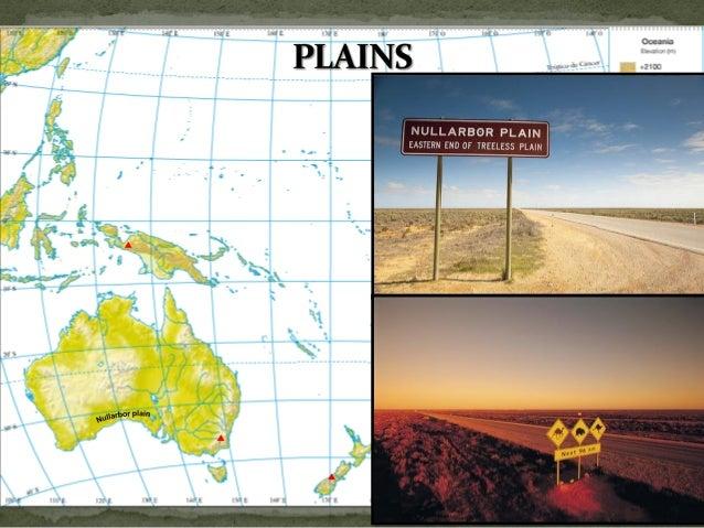 Oceania & Antarctica physical map