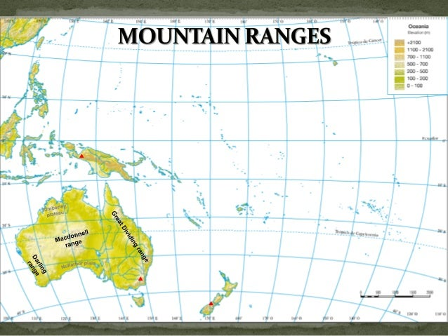 Oceania Antarctica Physical Map - Physical map of oceania
