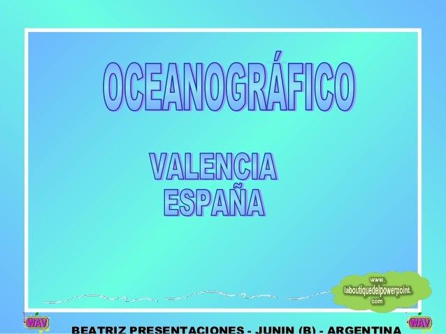 L'Oceanogràfic (en valenciano, oceanográfico) es un complejo donde se representa los diferentes hábitat marinos (mares y o...