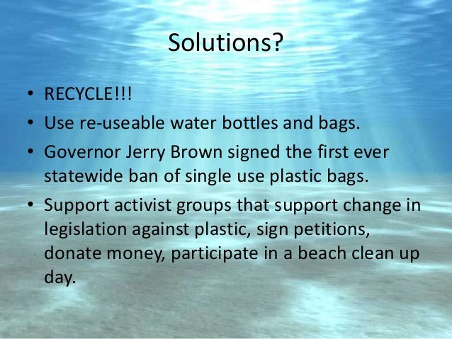 problem and solution of plastics Solutions to the plastic problem as a practical solution to the plastic problem invention of plastics has spawned a huge problem that we are.