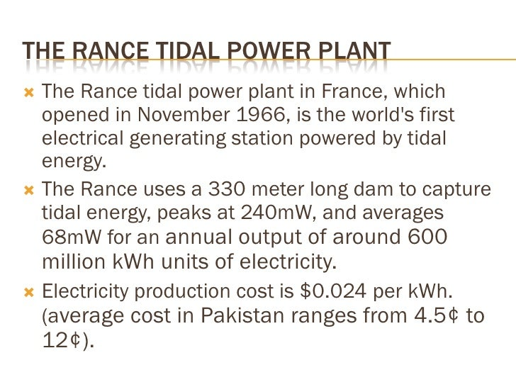 TIDAL ENERGY CALCULATIONS   For a tidal site, the available energy (and peak   capability) depends largely on the install...