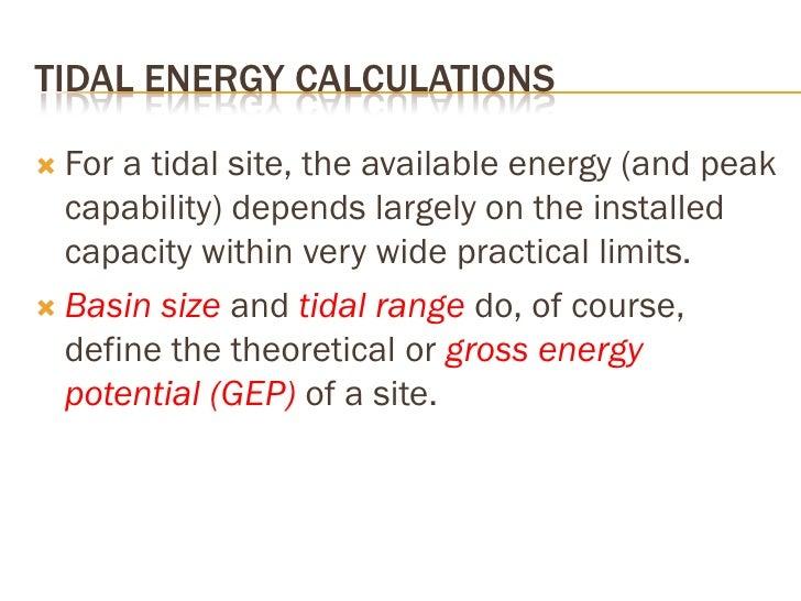 GROSS ENERGY POTENTIAL (GEP)