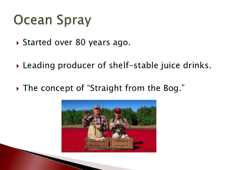 """Oceanspray """"Straight from the Bog"""" Campaign Slide 2"""