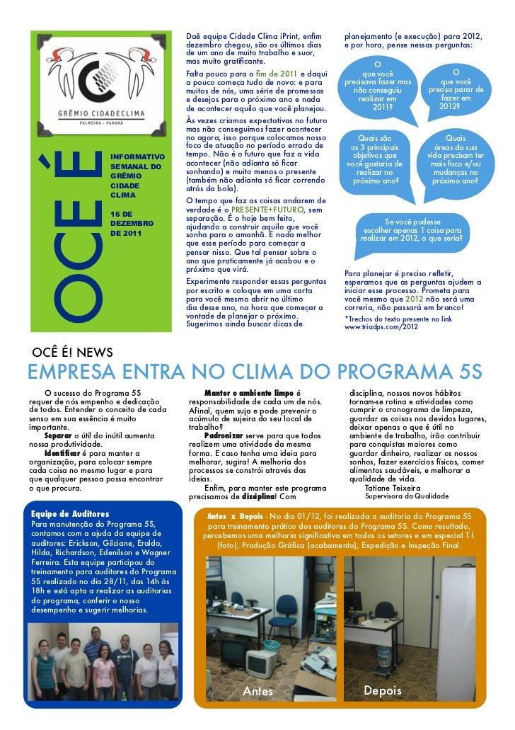 Daê equipe Cidade Clima iPrint, enfim       planejamento (e execução) para 2012,                                           ...