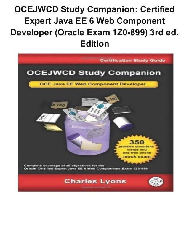 Ocejwcd study companion certified expert java ee 6 web component deve…
