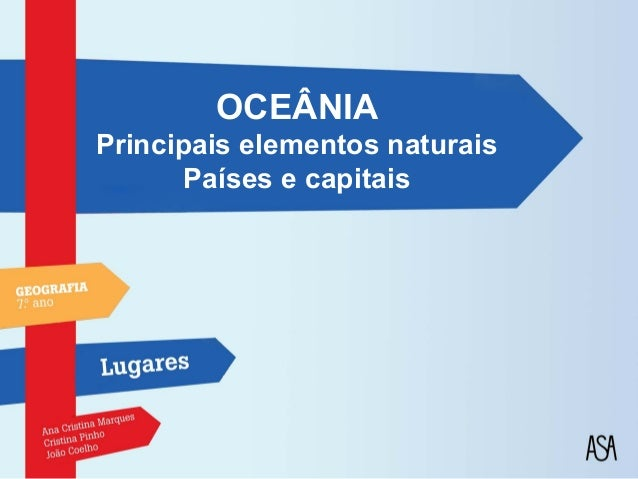 OCEÂNIAPrincipais elementos naturais       Países e capitais