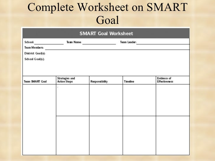 Oce smart goals – Smart Goals Worksheet