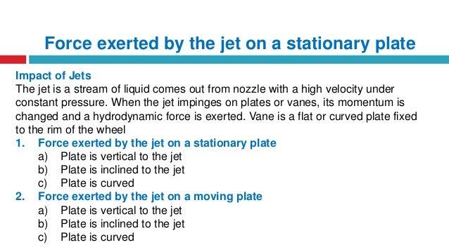 Impact Of Jet On Vane Apparatus