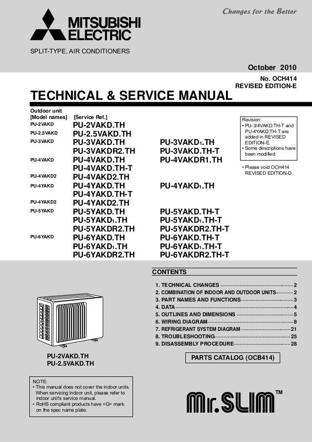 Wiring Diagram For Mitsubishi Air Conditioner - Wiring