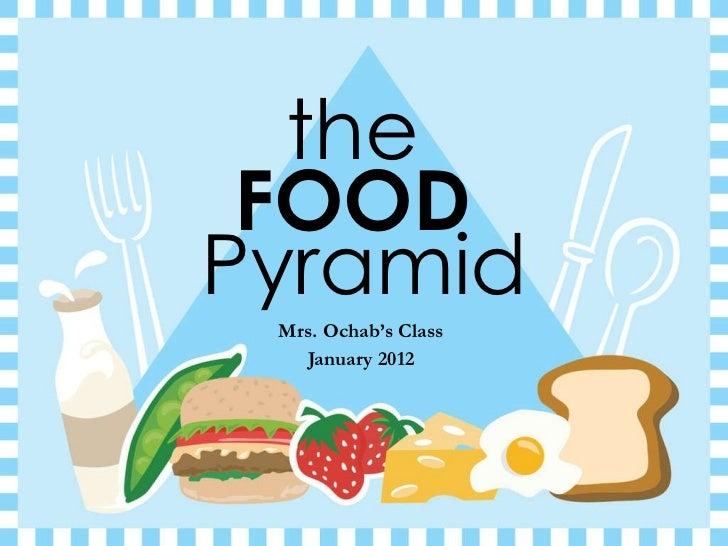 the  Mrs. Ochab's Class January 2012 FOOD   Pyramid