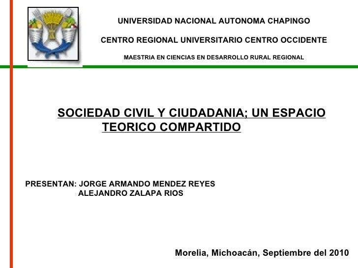 UNIVERSIDAD NACIONAL AUTONOMA CHAPINGO CENTRO REGIONAL UNIVERSITARIO CENTRO OCCIDENTE MAESTRIA EN CIENCIAS EN DESARROLLO R...