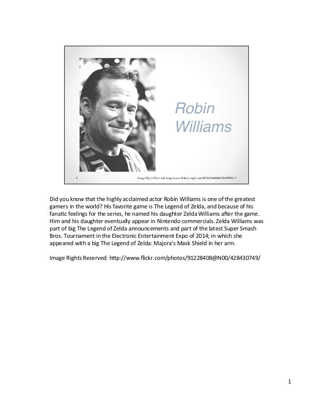 Did  you  know  that  the  highly  acclaimed  actor  Robin  Williams  is  one  of  the  greate...