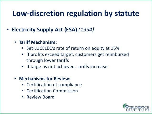 Low-Discretion Models: Statutes and Regulation (Another Way to Deal with Limited Capacity) Slide 3