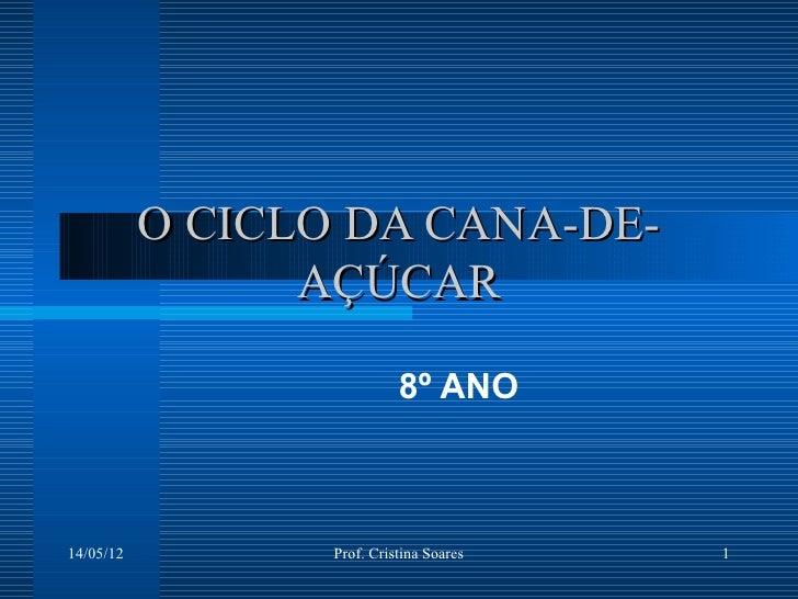O CICLO DA CANA-DE-                 AÇÚCAR                            8º ANO14/05/12          Prof. Cristina Soares   1