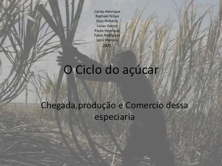 O Ciclo do açúcar<br />Carlos Henrique<br />Raphael Felipe<br />Elias Pinheiro<br />Lucas Garcia<br />Paulo Henrique<br />...
