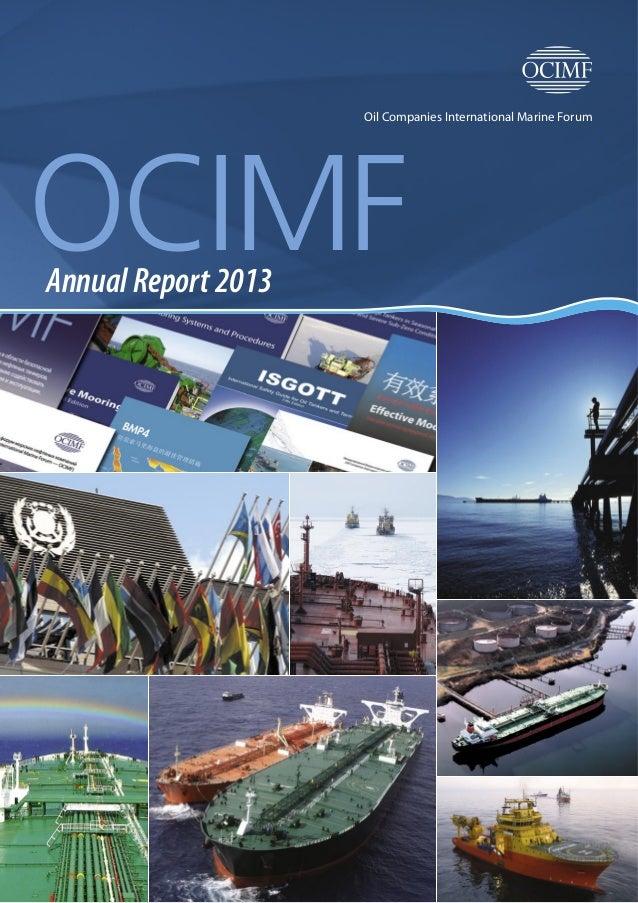 Oil Companies International Marine Forum OCIMFAnnual Report 2013