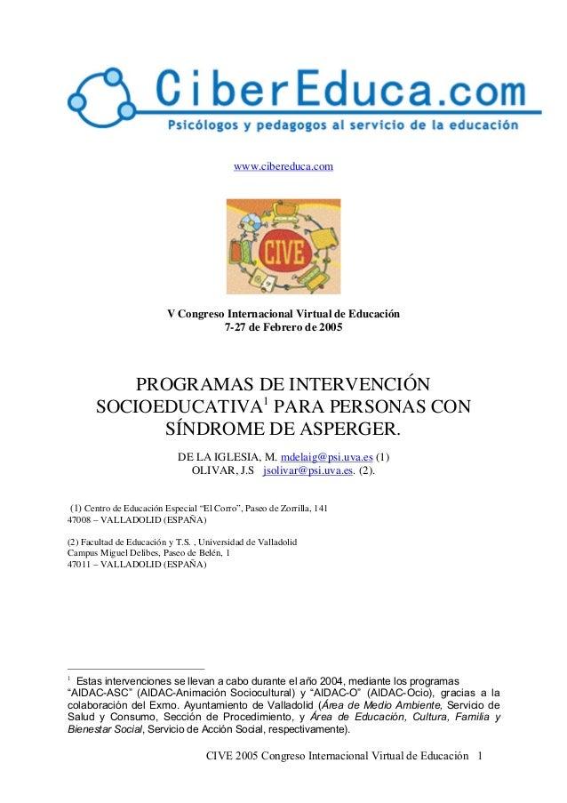CIVE 2005 Congreso Internacional Virtual de Educación 1www.cibereduca.comV Congreso Internacional Virtual de Educación7-27...