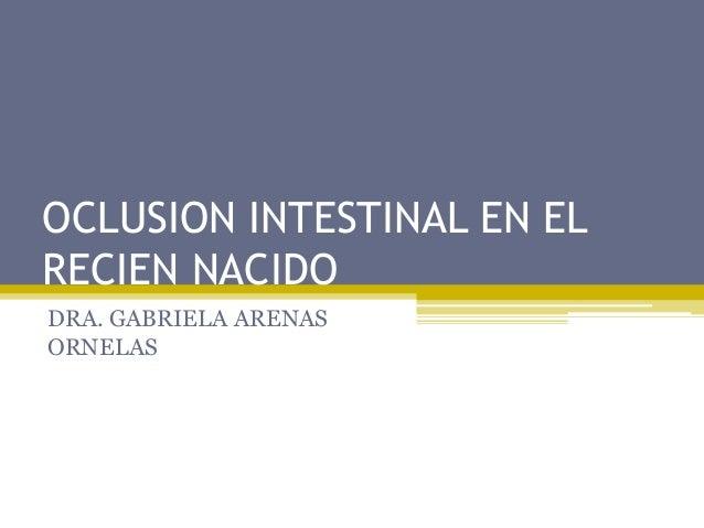 OCLUSION INTESTINAL EN ELRECIEN NACIDODRA. GABRIELA ARENASORNELAS